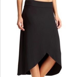 Athleta blue midi wrap jersey skirt